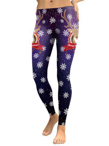 Snowflake Elk Joyful Christmas Leggings