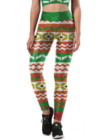 Latest Print Ugly Christmas Leggings COLORMIX L