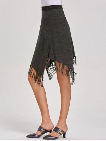 Fancy Asymmetric A-line Fringe Skirt