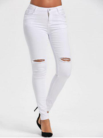 Store High Waist Ripped Skinny Pants