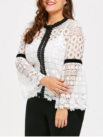 Outfit Plus Size Hollow Out Crochet Top with Cami