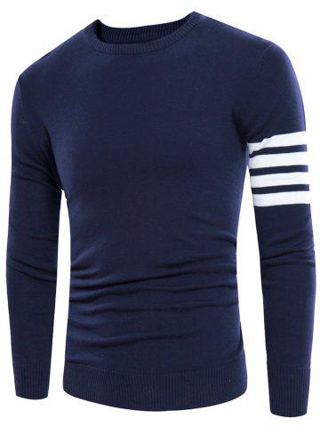 Buy Crew Neck Striped Pullover Jumper