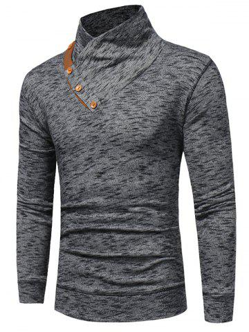 Unique Shawl Collar Knit Blends Pullover Hoodie