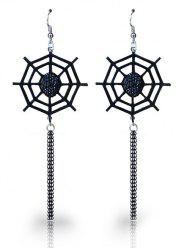 Halloween Spider Web Fish Hook Earrings -
