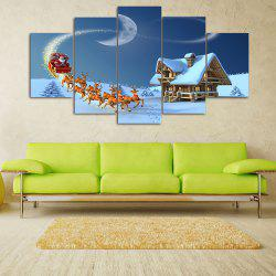 Snowy Christmas Night Print Unframed Split Canvas Paintings -