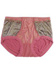 Lace Panel Full Coverage Panties -
