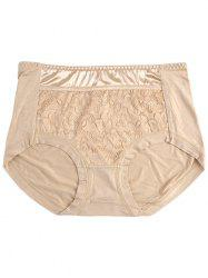 Lace Panel Panties - COMPLEXION ONE SIZE
