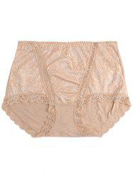 Full Coverage Panties with Lace -