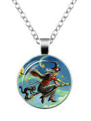 Devil Halloween Witch Cat Star Necklace - SILVER
