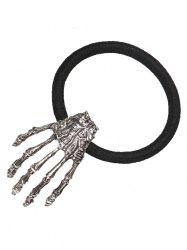 Skeleton Halloween Hand Elastic Hair Band - Silver