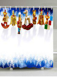 Christmas Toys Print Fabric Waterproof Bathroom Shower Curtain -