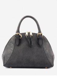 Buckle Strap Shell Shape Crocodile Pattern Totes -