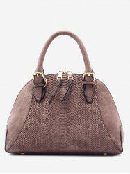 Buckle Strap Shell Shape Crocodile Pattern Totes - DUN