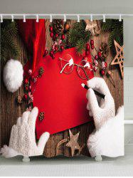 Christmas Decorations Print Fabric Waterproof Bathroom Shower Curtain -