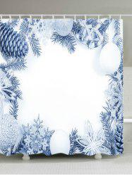 Christmas Series Print Fabric Waterproof Bathroom Shower Curtain -