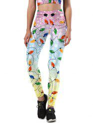 Christmas Party Light Leggings - COLORMIX XL