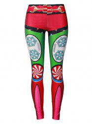 Christmas Party Candy Snowflake Leggings - COLORMIX M