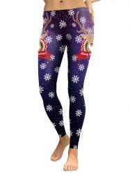 Snowflake Elk Joyful Christmas Leggings -