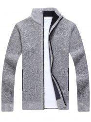 Zip Up Knitted Cardigan Sweater -