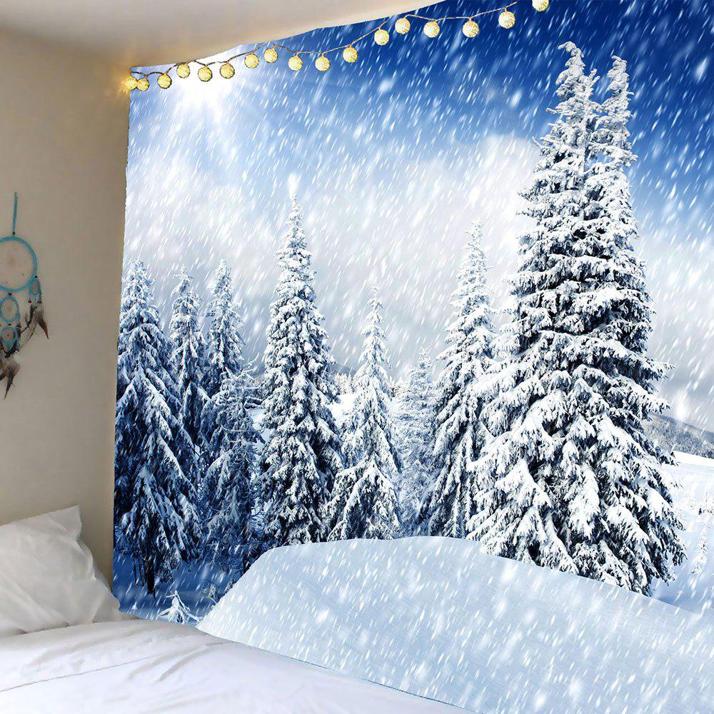 2019 Hanging Whirling Snow Forest Patterned Wall Decor