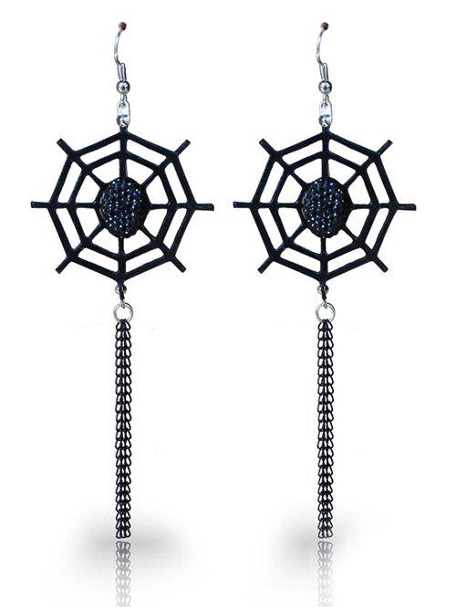 Hot Halloween Spider Web Fish Hook Earrings