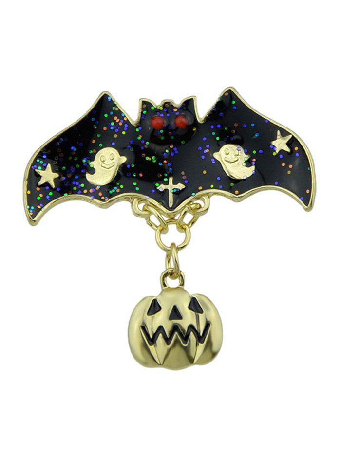 Halloween Pumpkin Bat Ghost Star BroochJEWELRY<br><br>Color: GOLDEN; Brooch Type: Brooch; Gender: For Unisex; Style: Trendy; Shape/Pattern: Animal; Length: 3.4CM; Weight: 0.0300kg; Package Contents: 1 x Brooch;