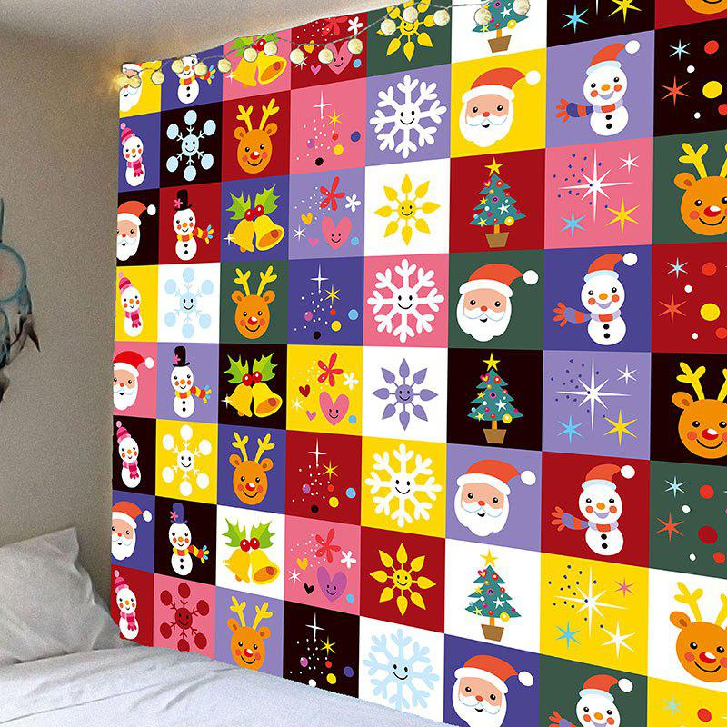 Christmas Cartoon Pattern Waterproof Wall Art TapestryHOME<br><br>Size: W59 INCH * L51 INCH; Color: COLORFUL; Style: Festival; Theme: Christmas; Material: Velvet; Feature: Removable,Washable,Waterproof; Shape/Pattern: Animal,Cartoon,Snowman; Weight: 0.2100kg; Package Contents: 1 x Tapestry;