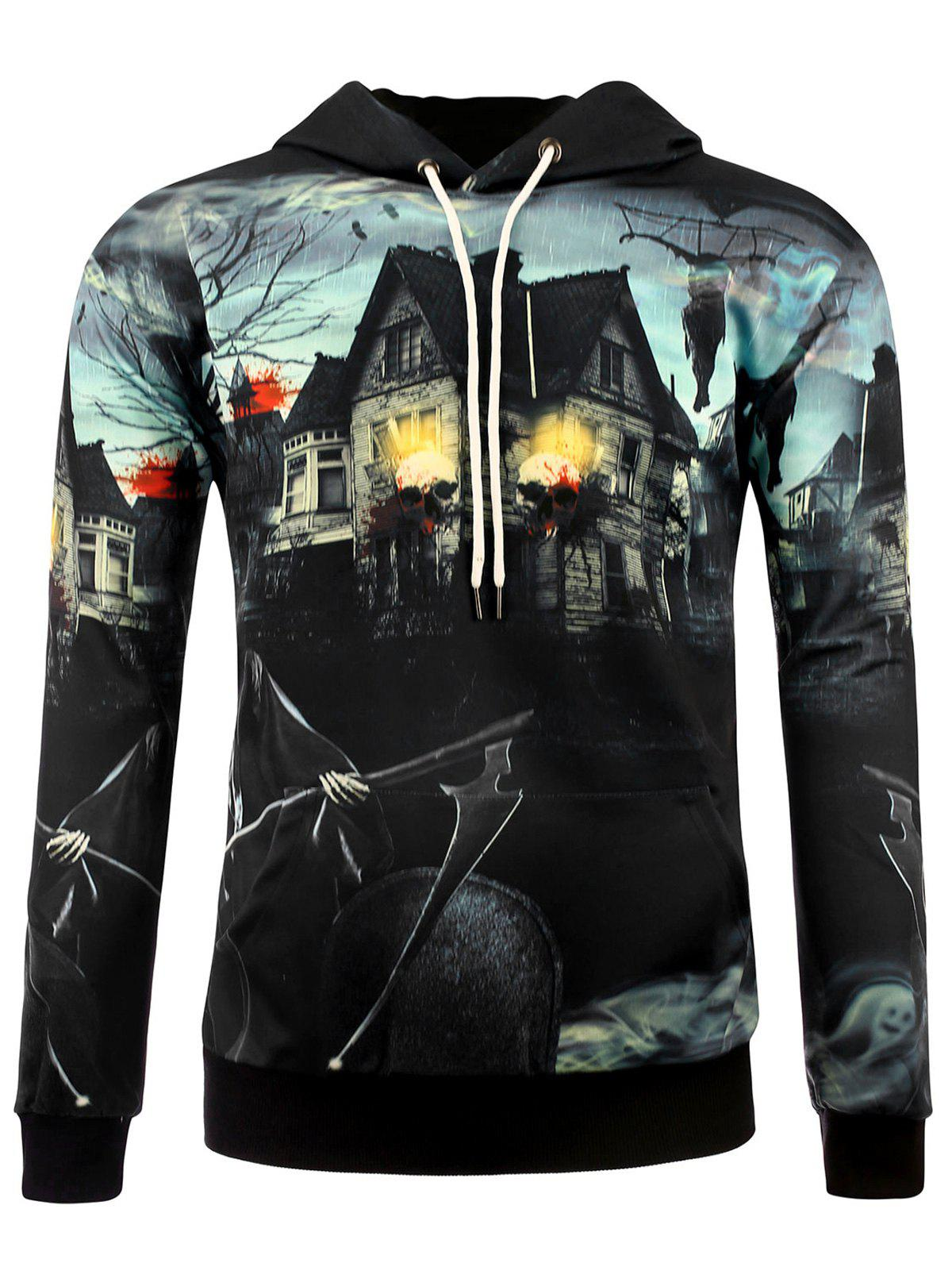 Outfit 3D Death Haunted House Halloween Hoodie