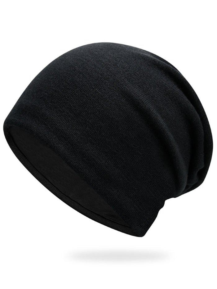 Autumn Knit HatACCESSORIES<br><br>Color: BLACK; Hat Type: Skullies Beanie; Group: Adult; Gender: Unisex; Style: Fashion; Pattern Type: Solid; Material: Acrylic; Circumference (CM): 57CM; Weight: 0.1700kg; Package Contents: 1 x Hat;