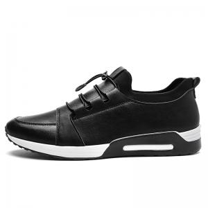 Low Top Faux Leather Casual Shoes - BLACK 43