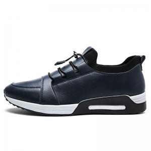 Low Top Faux Leather Casual Shoes - Bleu 43