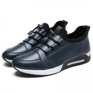 Low Top Faux Leather Casual Shoes - Bleu 42