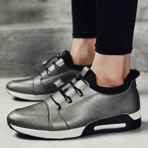 Low Top Faux Leather Casual Shoes - FROST 42