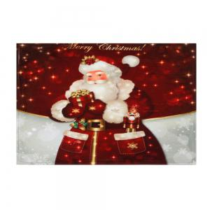 Christmas Santa Claus Antislip Bath Mat - DARK RED W24 INCH * L35.5 INCH