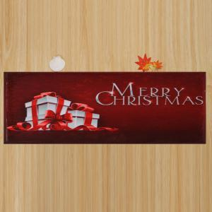 Merry Christmas Gift Skidproof Area Rug - DARK RED W16 INCH * L47 INCH