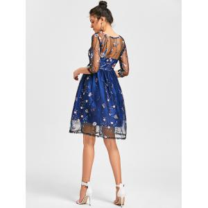 See Thru Embroidered Mesh Dress -