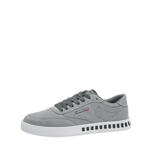 Color Block Stitching Letter Skate Shoes - GRAY 41