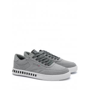 Color Block Stitching Letter Skate Shoes - GRAY 42