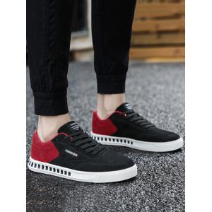 Color Block Stitching Letter Skate Shoes - RED WITH BLACK 44