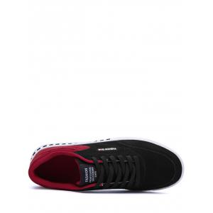 Color Block Stitching Letter Skate Shoes - RED WITH BLACK 42