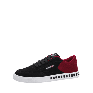 Color Block Stitching Letter Skate Shoes - RED WITH BLACK 40