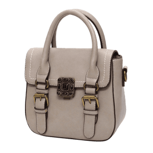 Metal Stitching Buckle Straps Tote Bag -