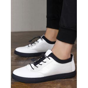 Tie Up Bright Color Low Top Casual Shoes - WHITE 44