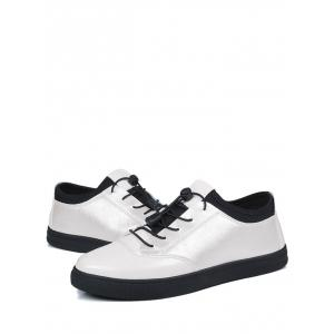 Tie Up Bright Color Low Top Casual Shoes - WHITE 39