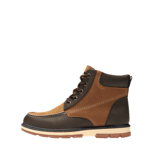 Ankle Color Block Moc Toe Boots - BROWN 39