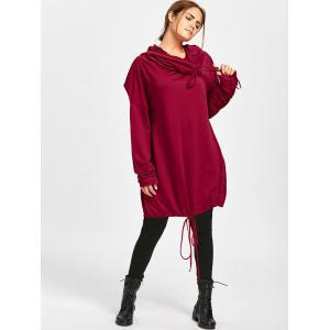 Sweat à manches longues Dolman Sleeve Loose Fit - Rouge 2XL