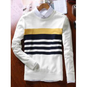 Stripes Crew Neck Sweater -