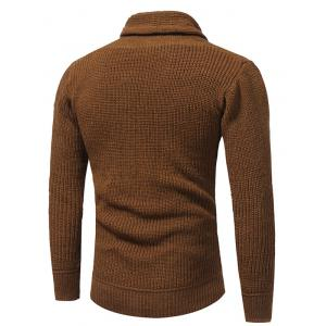 Cowl Neck Drawstring Pullover Sweater - CAMEL L