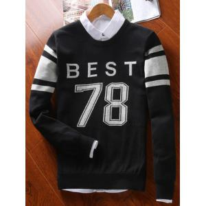 Best 78 Pattern Crew Neck Sweater - BLACK 3XL