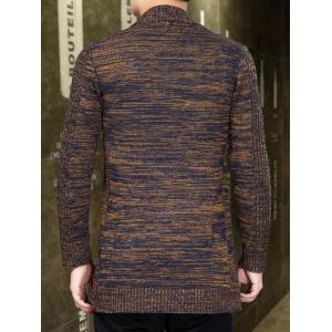 Knitted Open Front Cardigan - COFFEE 3XL